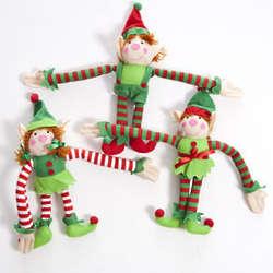 Plush Long Armed Christmas Elf