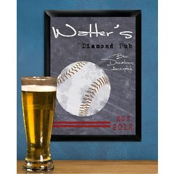 Personalized Baseball Tavern Sign