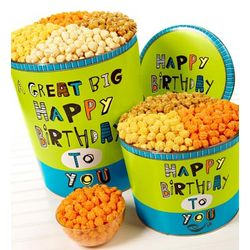 Great Big Happy Birthday Popcorn Tin