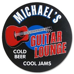 Guitar Lounge Personalized Sign