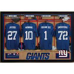 Personalized NFL New York Giants Locker Room Print