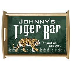 Personalized Tiger Bar Serving Tray