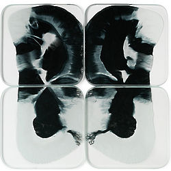 Black & White Rorschach Coasters