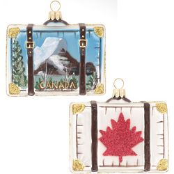 Canada Suitcase Christmas Ornament