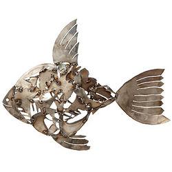 Steel Fish Mosaic Lawn Sculpture