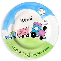 Girl's Choo-Choo Train Plate