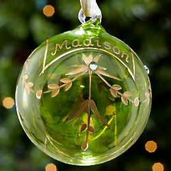 Peridot Personalized August Birthstone Ornament