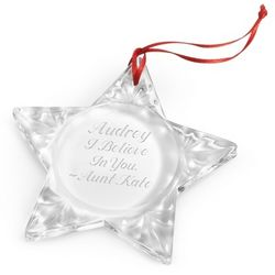 Crystal Star Christmas Ornament