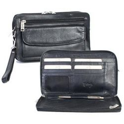 Black Leather Man Bag