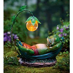 Solar Lighted Daydreaming Animal Garden Sculpture
