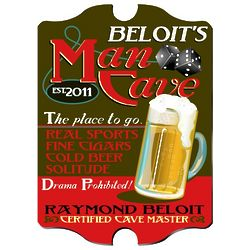 Personalized Vintage Style Man Cave Tavern Sign