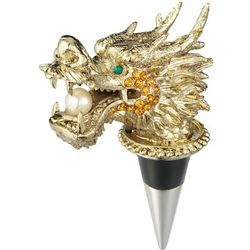 Enameled Dragon Bottle Stopper