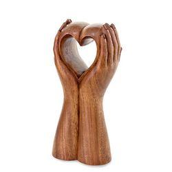 Faithful Heart Wood Sculpture