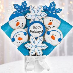 Winter Holidays Cookie Bouquet