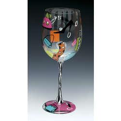 Shopaholic Wine Glass