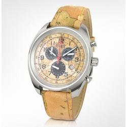 La Prima Classe Men's Geo Dial and Strap Chronograph Watch