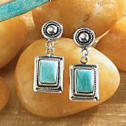 Peruvian Copacati Amazonite Earrings