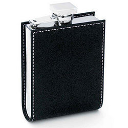 Square Leather Flask