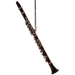 Clarinet Black Christmas Ornament