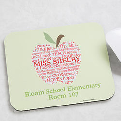 Personalized Teacher Apple Scroll Mouse Pad