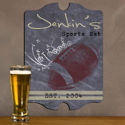 Personalized Vintage Football Tavern Sign