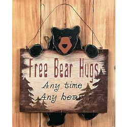 Free Bear Hugs Sign