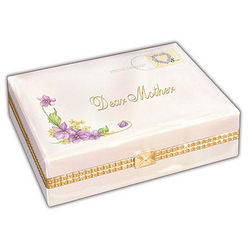 Dear Mother White Floral Envelope Jewelry Box