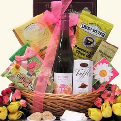 Spring Bloom Riesling Gourmet Wine Gift Basket