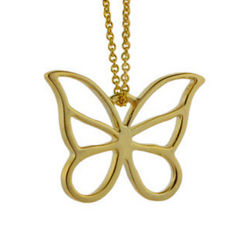 Gold Vermeil Butterfly Pendant