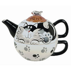 Cat Themed Teapot