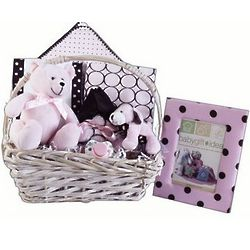 Pink-A-Dots Baby Gift Basket