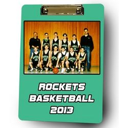 Personalized Basketball Coach Photo Clipboard