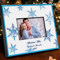 Crystal Snowflake Personalized Picture Frame