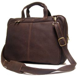 Distressed Leather Laptop Briefcase