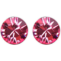 Large Rose Swarovski Elements Crystal Stud Earrings