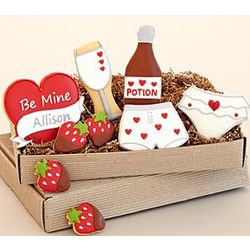 Personalized Valentine's Day Cookie Gift Box