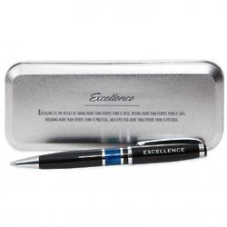 Excellence Pen in Case with Quote
