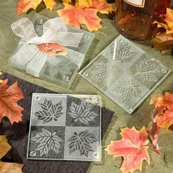 Fall Wedding Favor Coaster Set