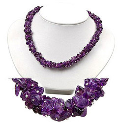 Amethyst Majestic Necklace in Silver