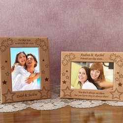 Personalized Stars Wooden Picture Frame