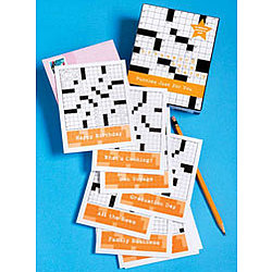 Crossword Note Cards