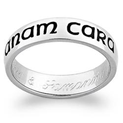 "Sterling Silver ""Mo Anam Cara"" Engraved Band"