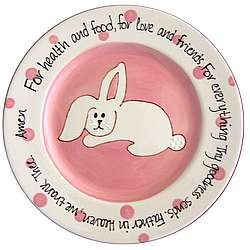 Bunny Prayer Baby Plate