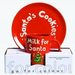 """Santa's Cookie"" Plate and ""Milk for Santa"" Mug Set"