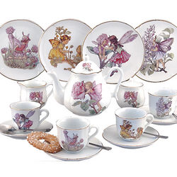 Child's Large Flower Fairy Tea Set