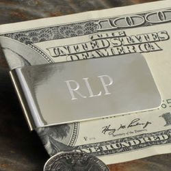 Personalized Sleek and Silver Money Clip