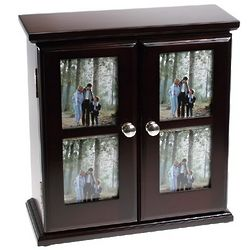 Rosewood Window Frame Photo Album Chest
