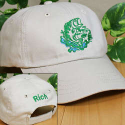 Embroidered Bass Fishing Hat