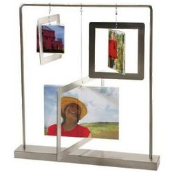 Dangle Mobile Multi Photo Frame in Nickel
