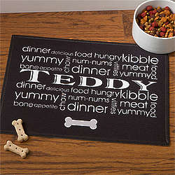 Doggie Delights Personalized Dog Bowl Mat